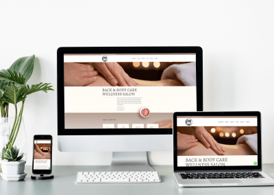 Webdesign Back and Body Care